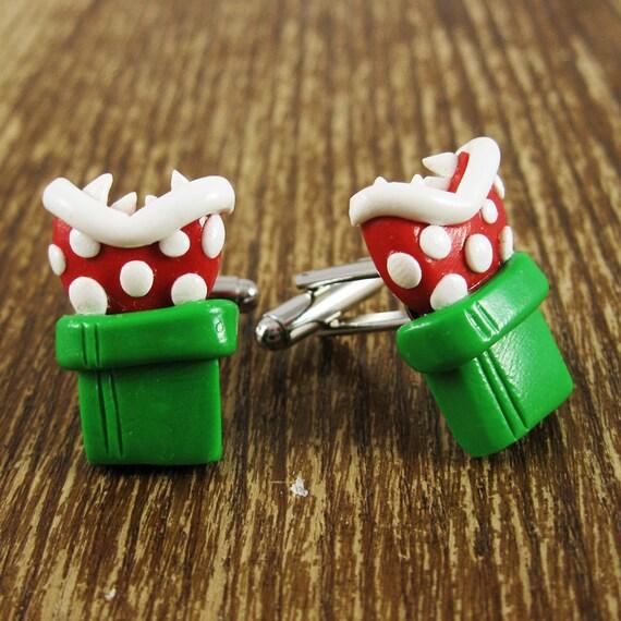 Nintendo Piranha Plant Cufflinks