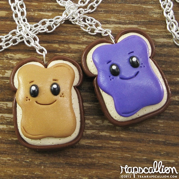 BFF Peanut Butter & Jelly Best Friends Necklace Set