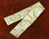 Removable Avocado Green Damask SLR Digital Camera Strap Slipcover
