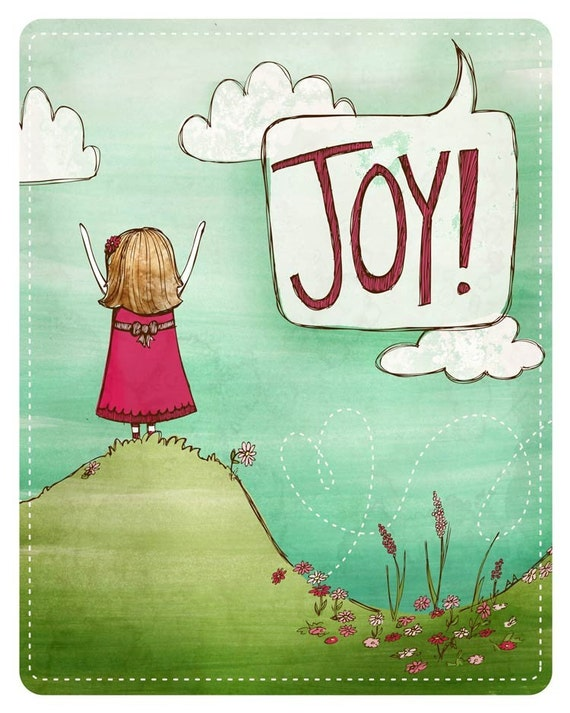 Joy print 8x10