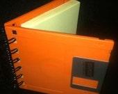 Orange Floppy Disc Spiral Post-it Note Holder