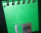 Green Floppy Disc Spiral Post-it Note Holder