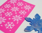 Snowflakes Silkscreen for Polymer clay and crafts