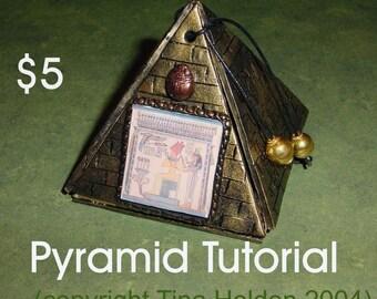 Pyramid Box - Polymer Clay Mixed Media Tutorial - Digital PDF Download