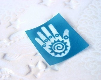 Friendship or healing hand design silkscreen for polymer clay and crafts