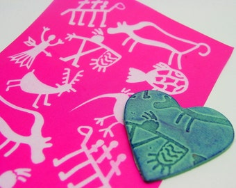 Petroglyph Silkscreen for Polymer clay and Crafts