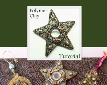 Star Bauble Ornament - Faux Metal - Polymer Clay Tutorial - Digital PDF Download