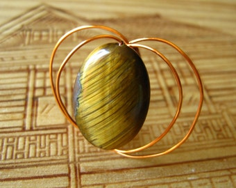 Tigers eye wired ring