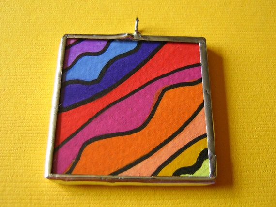Give me COLOR double sided soldered pendant