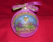 Girl's First Holy Communion Original Handpainted Personalized Keepsake Ornament with Free Display Stand