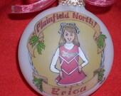 CUTE CHEERLEADER CUSTOM Ornament Original Handpainted Personalized Ornament