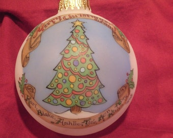 GRANDMA OR GRANDPA  Christmas Tree Custom Personalized Ornament , Original, Handpainted, Personalized