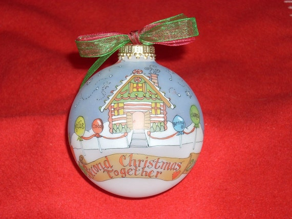 Second Christmas Together  Keepsake Ornament, Handpainted, Personalized, Original Design