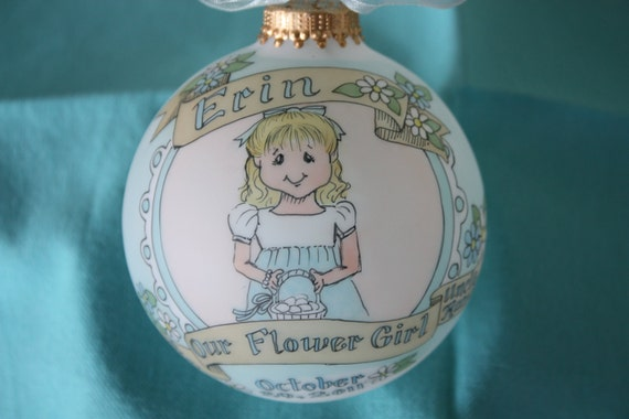 Our Little Flower Girl Original Handpainted Personalized Ornament