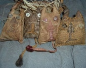 Primitive Cat Ornies of Kittens E-Pattern OFG Team