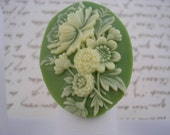 Fancy Floral Cameo Ring - Adjustable