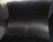 beautiful hand knit black grey and white blanket afghan\/throw FALL SALE