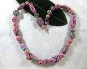 Mostly Pink Happy Necklace