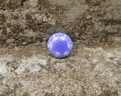 Purple Polymer Clay Kaleidoscope Cane Single Round Bead