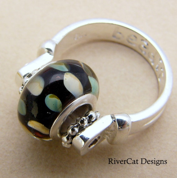 Interchangeable Pandora Inspired Pendant or Ring Size 5 1/2 (R-04)