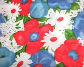 Vintage Fabric - Large Floral Design - 1 Yard