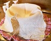 Vintage Embroidered Bread Basket Cloth For Hot Rolls