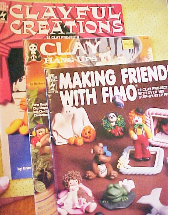 Lot of Three Fimo Clay Instruction Books