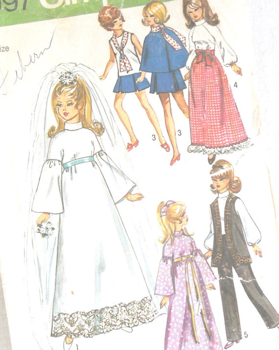 Reserved for HannahViolet - Vintage Sewing Pattern - Barbie Doll Clothes