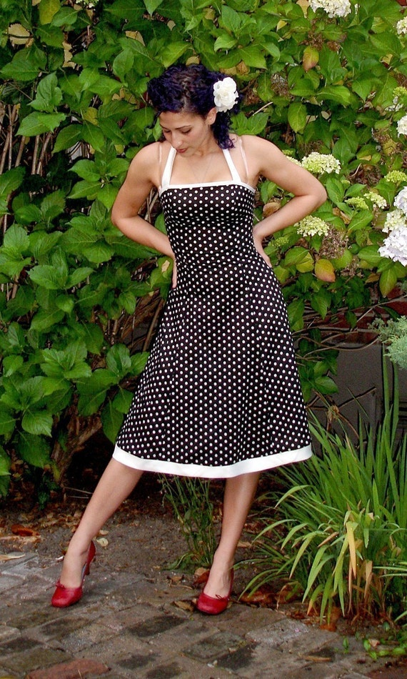 Swing Dress in  DC5153 Coral  Dot to Dot
