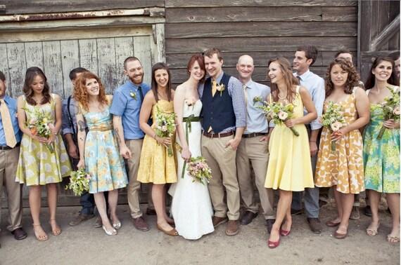 Items Similar To Floral Bridesmaids Dress Quot Party Quot Dress