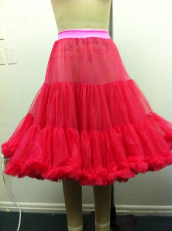 Raspberry Wedding Chiffon Petticoat or Pick a color