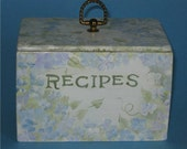 Hand Painted Cottage Recipe Box from KC's Hand Painted Boutique