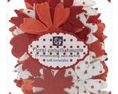Prima Flower Sprites in Red Polka Dot for Scrapbooking