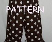 Great Fitting Boutique Single Ruffle Pants and Capri Sewing Pattern---PDF, eBook, ePattern, Tutorial-.