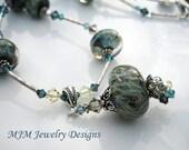 SALE - Deep Blue Sea - Glass Bead Necklace