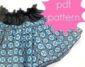 Ruffle Skirt PDF Sewing Pattern - nb, 3m, 6m, 12m, 18m, 2t, 3t, 4t, 5t, Doll (Preemie)