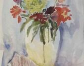 Matted Watercolor original