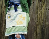 Oh So Sweetly Farmgirl Chic Fabric Collage Apron