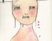 "Original Acrylic Mixed Media Painting 9 x 11.....""SERENA"""