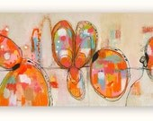 """Large Original Abstract  Painting 36"""" x 18""""...........by Christina Romeo"""