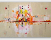 """Large Original  Abstract  Painting by Christina Romeo 3ft x 2ft Title: """"Dysphagia"""""""