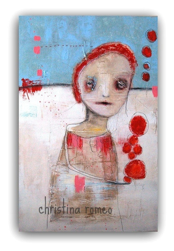 "Large Acrylic Mixed Media Painting  by Christina Romeo 2ft x 3 ft.  ""Quantum"""