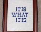 Custom Cross Stitch of Words