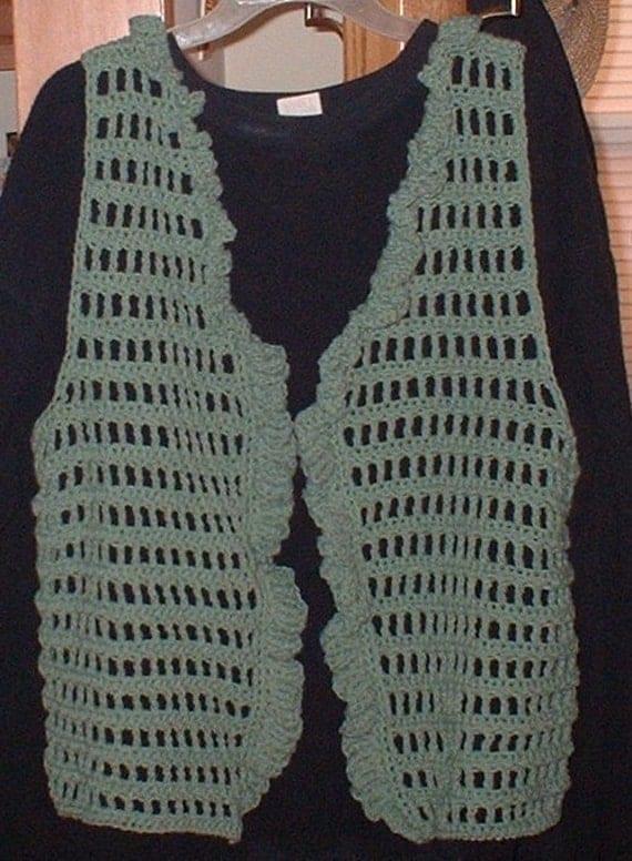 Custom Order, Vest, Open Weave, Crochet
