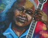 Blues Guitar Music African American Jazz Giclee Fine Art Print