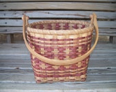 Hand Woven Basket Made in NC--Basket with swing handle