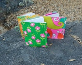 Lot of 3 vintage 1960s/70s fabric journals