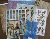 Mermaids Paper Bag Scrapbook Kit