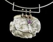 Fused Silver Amethyst Necklace