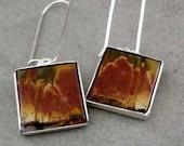 SALE Earthy Square Dangle Earrings